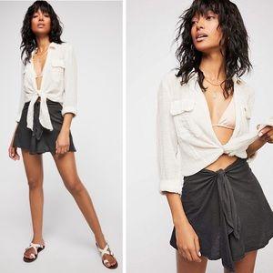 Free People Beach Oriana Wrap Skirt tube top